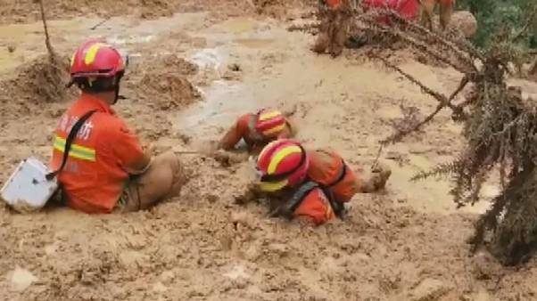 China mudslide: search and rescue operation underway