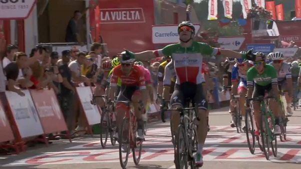 Elia Viviani repite victoria en la Vuelta ciclista a España
