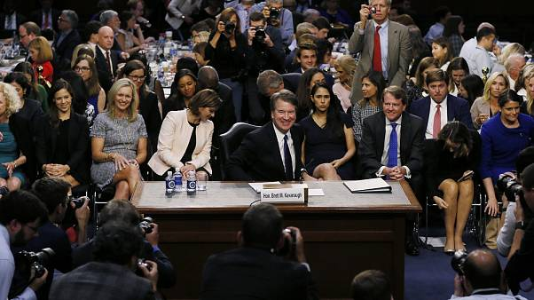 Kavanaugh hearing opens in chaos