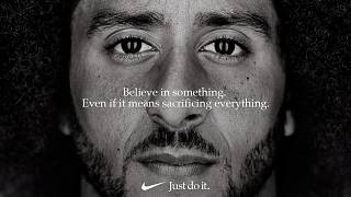 Colin Kaepernick in his advertisement campaign for Nike