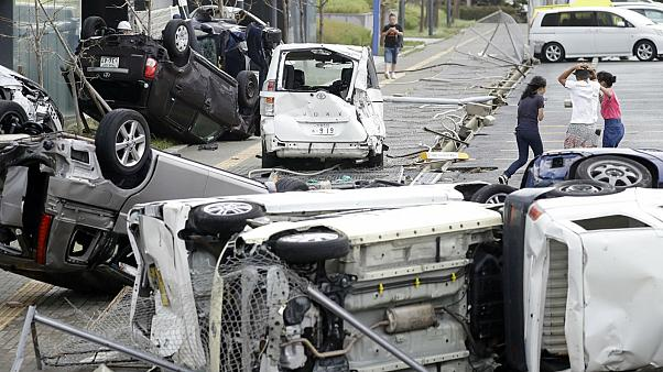Footage shows devastation from Japan's worst storm in a generation