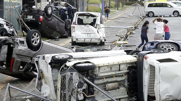 Imágenes revelan el desastre que dejó la peor tormenta de Japón en los últimos 25 años