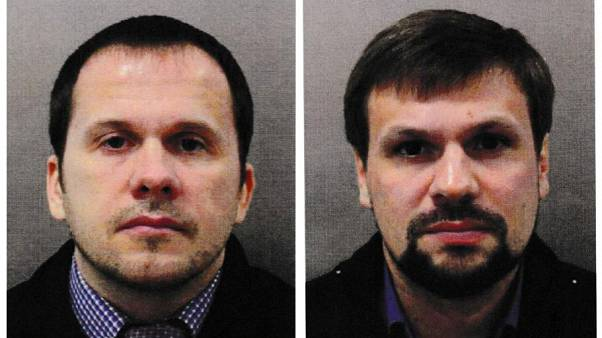 Alexander Petrov and Ruslan Boshirov, charged in the Skripal poisoning case