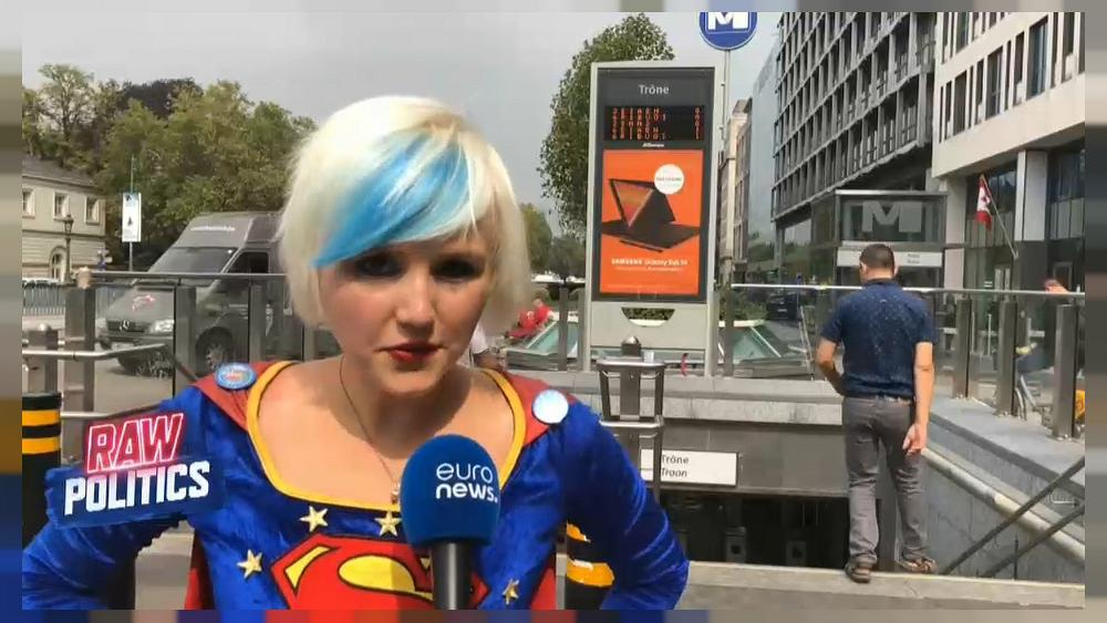 What's Supergirl doing in Brussels?