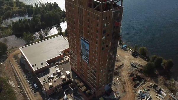 شاهد: النرويج تشيد أطول برج خشبي في العالم