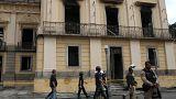 Il Museo Nazionale di Rio dopo l'incendio