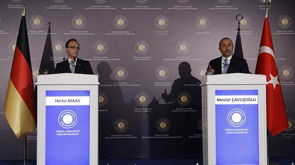 Almanya Dışişleri Bakanı Maas ve Türkiye Dışişleri Bakanı Çavuşoğlu