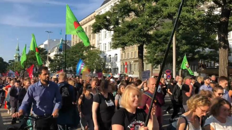 Around 10,000 turn out in Hamburg for anti-fascist rally