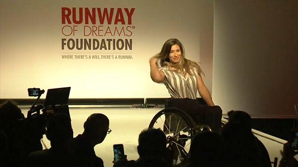 شاهد: عرض أزياء لذوي الاحتياجات الخاصة في نيويورك الأميركية