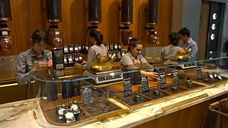 Giant Starbucks cafe in Milan, Italy