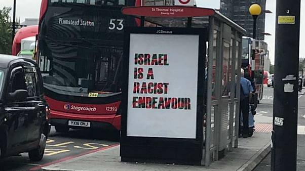 Posters claiming 'Israel is a racist endeavour' spring up around London
