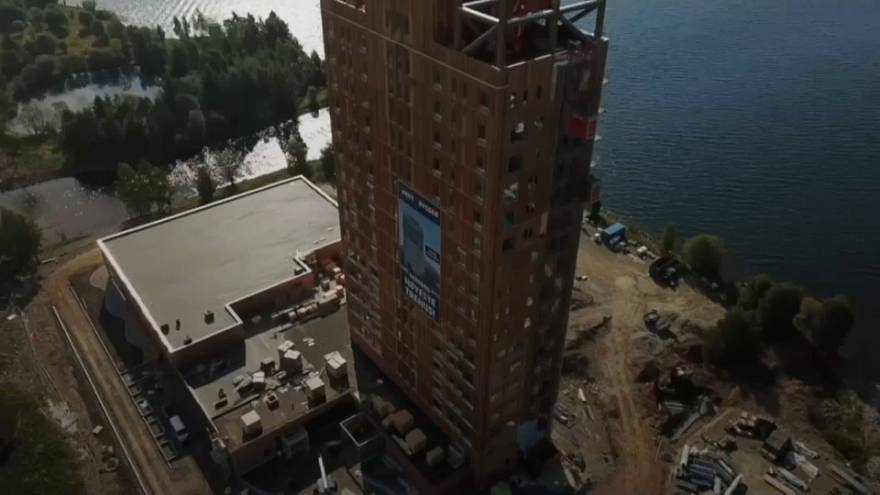 Norwegian developer completes his timber skyscraper