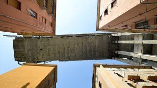 Le viaduc de Gênes vu du dessous