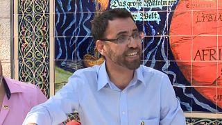 عبد العزيز أبو سارة في المؤتمر الصحفي
