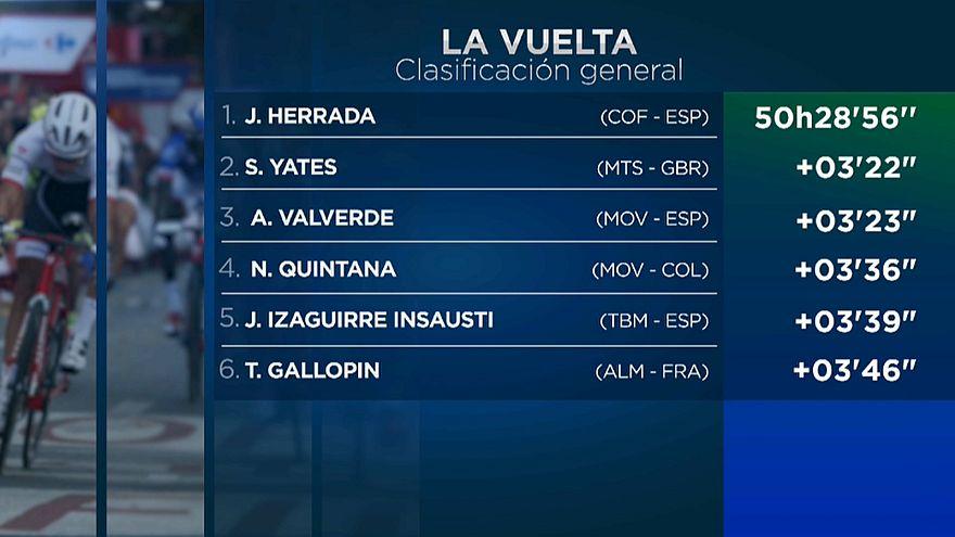 Jesús Herrada, nuevo líder de la Vuelta