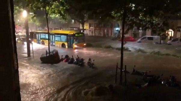 Inundaciones en Barcelona por una fuerte tormenta