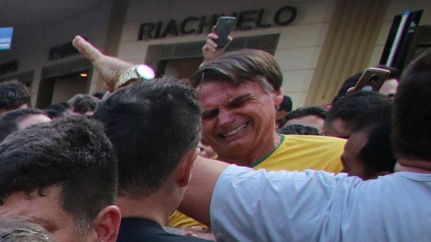 Bolsonaro poco después del ataque