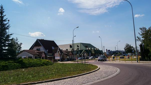 Grabówka - the roundabout where residents planned to celebrate
