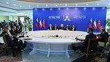 Putin  Russia, Rouhani  Iran and Erdogan Turkey meet in Tehran