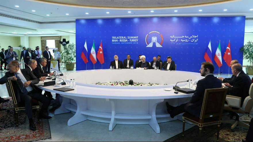 Putin  Russia, Rouhani  Iran and Erdogan Turkey meet in Tehran