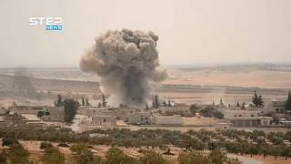 Air strikes continue in last Syrian rebel stronghold of Idlib