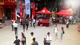 Cina, le immagini del terremoto riprese da una telecamera di sicurezza