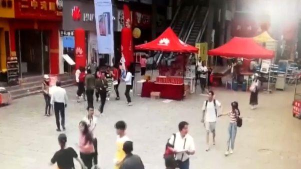 شاهد: كاميرات المراقبة ترصد لحظات وقوع زلزال مويانغ هاني في الصين