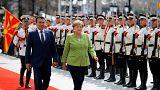 Angela Merkel a Skopje con il premier macedone Zoran Zaev