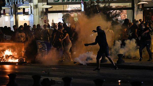 درگیری میان مخالفان دولت و نیروهای پلیس در تسالونیکی