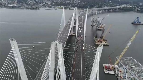 Watch: NY Governor Cuomo and Hillary Clinton open new bridge