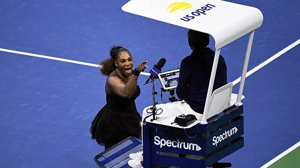 Williams clashes with umpire during Open defeat
