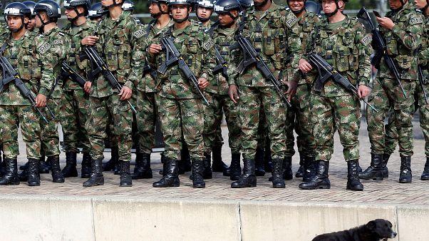 صورة أرشيفية لجنود الجيش الكولومبي