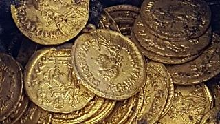 Hundreds of Roman gold coins discovered in Italian theatre