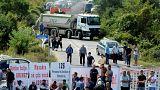 آلبانیایی تبارهای کوزوو مسیر رئیس جمهوری صربستان را سد کردند