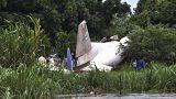صورة أرشيفية لطائرة شحن تحطمت بعد إقلاعها من مطار جوبا
