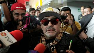 مکزیک؛ استقبال هواداران فوتبال از مارادونا