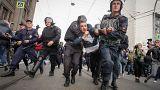 Rusya'da emeklilik reformu protestosu: 800'den fazla gözaltı