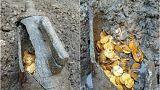 İtalya'da Roma Dönemi'nden kalma yüzlerce altın sikke bulundu