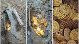 کشف سکههای طلا در انبار یک تئاتر قدیمی در ایتالیا