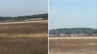 Лион: неизвестный нарушил работу аэропорта, выехав на машине на летное поле