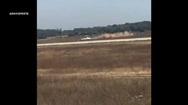 Autós üldözés a lyoni repülőtéren
