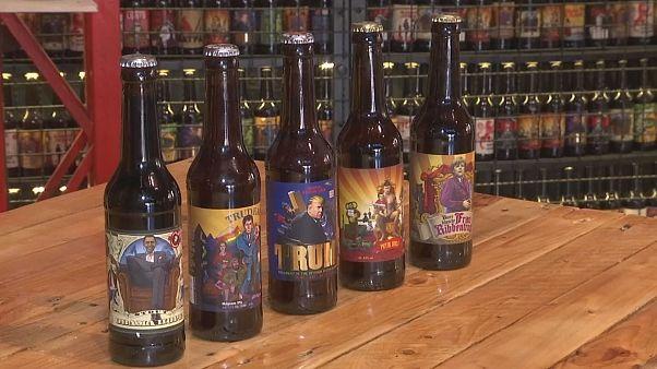 Dans une brasserie ukrainienne, buvez de la bière politique