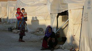 اردوگاه آوارگان جنگی در ادلب
