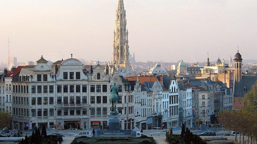 """مركز العاصمة بروكسل كما يظهر من """"مونت ديز آرت"""""""