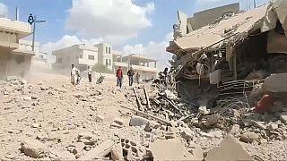Idlib: Zivilisten rennen um ihr Leben