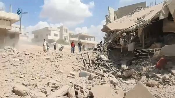 Bombardeos en la provincia siria de Idlib