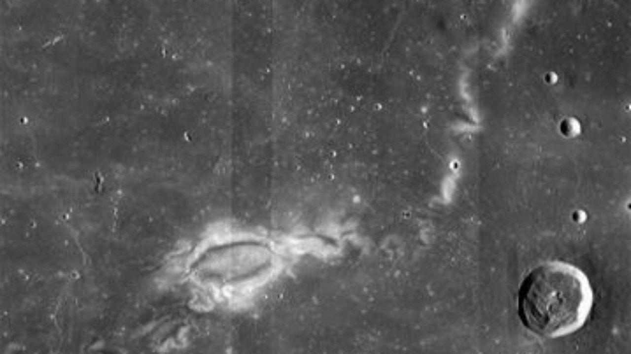 The Reiner Gamma lunar swirl from
