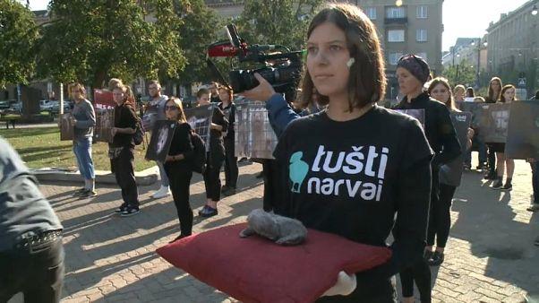 A nerctenyésztés betiltásáért tüntettek