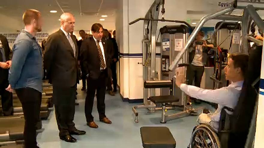 András herceg meglátogatta Magyarország első integrált edzőtermét