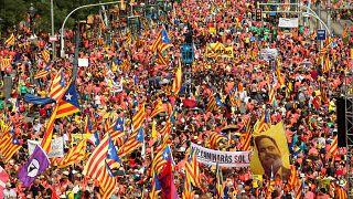 La Diada 2018 antepone la libertad de los políticos encarcelados a la independencia